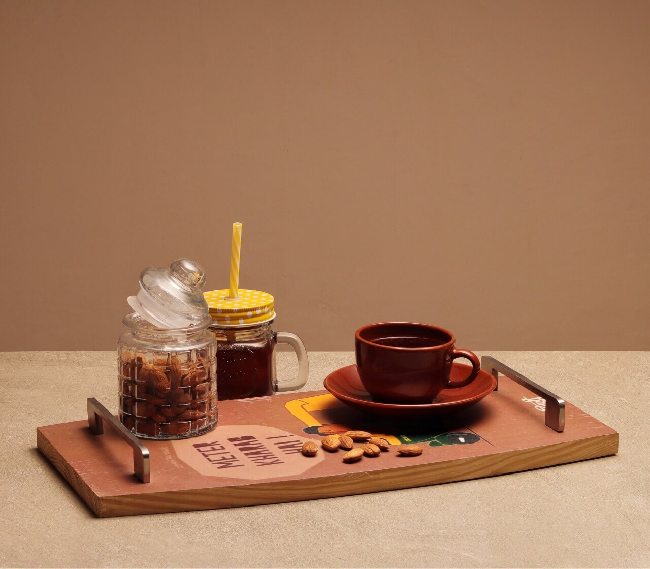 """Digital Printed""  Wooden Serving Tray"